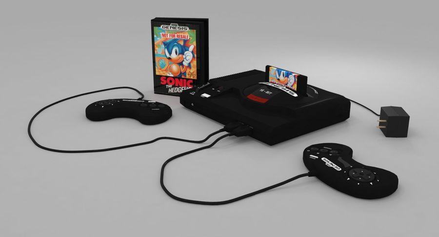 Sega Genesis royalty-free 3d model - Preview no. 3