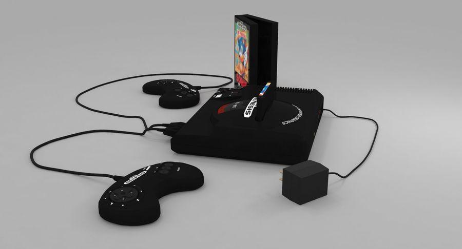 Sega Genesis royalty-free 3d model - Preview no. 4