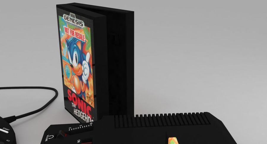 Sega Genesis royalty-free 3d model - Preview no. 14