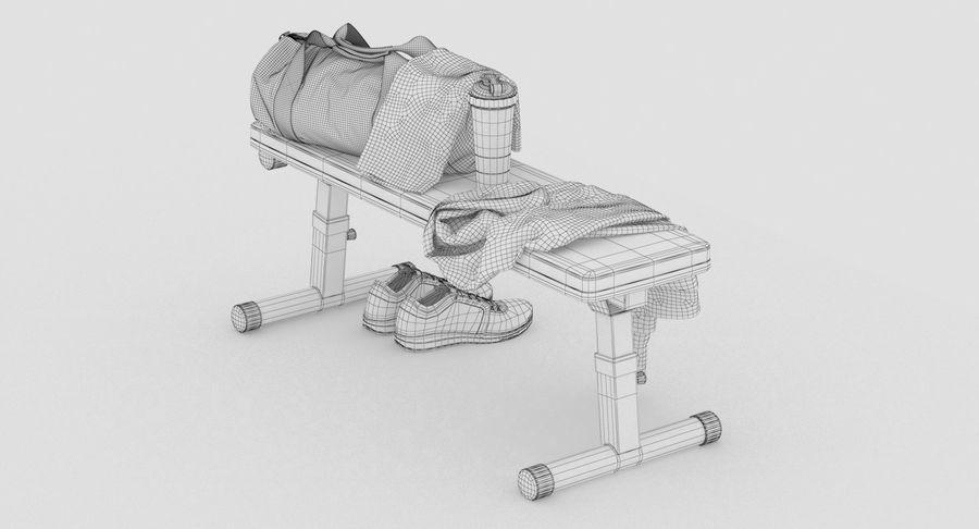 运动器材套装 royalty-free 3d model - Preview no. 13