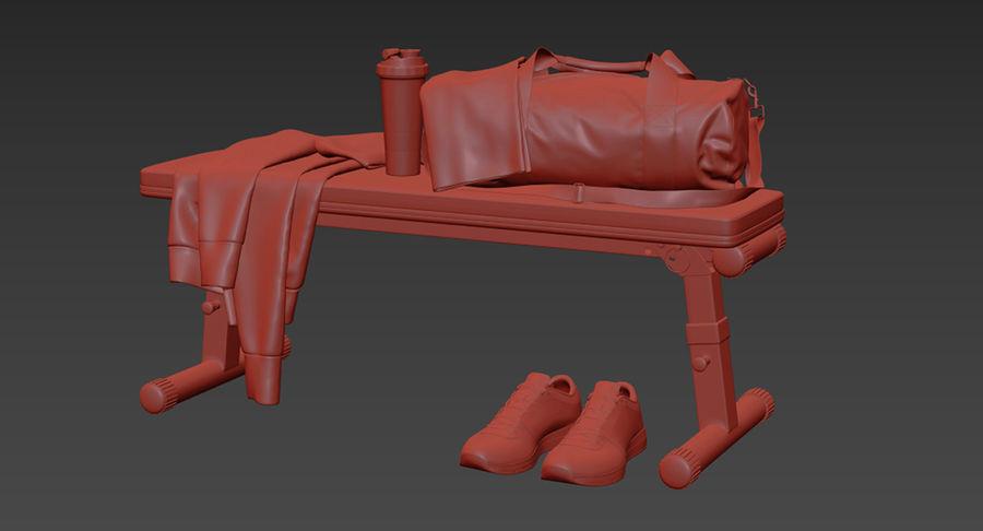 运动器材套装 royalty-free 3d model - Preview no. 19