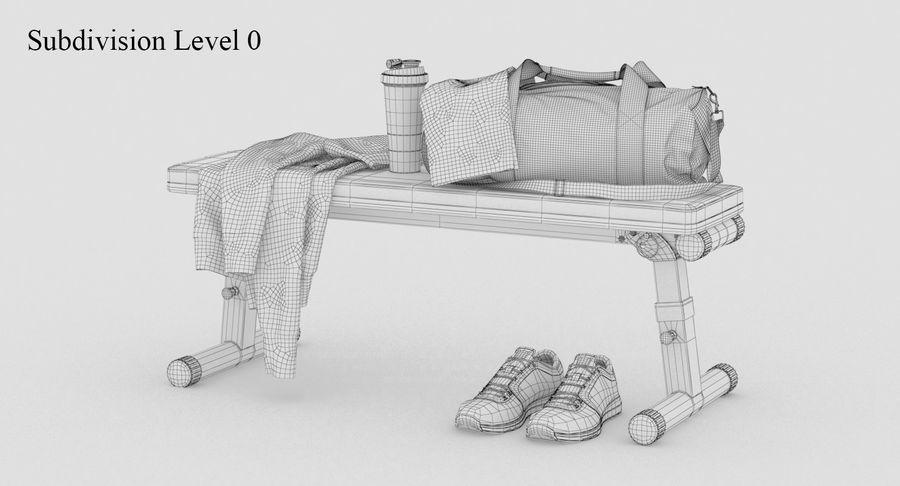 运动器材套装 royalty-free 3d model - Preview no. 10