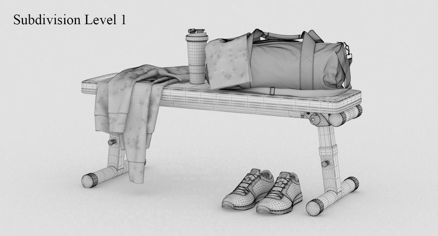 运动器材套装 royalty-free 3d model - Preview no. 11