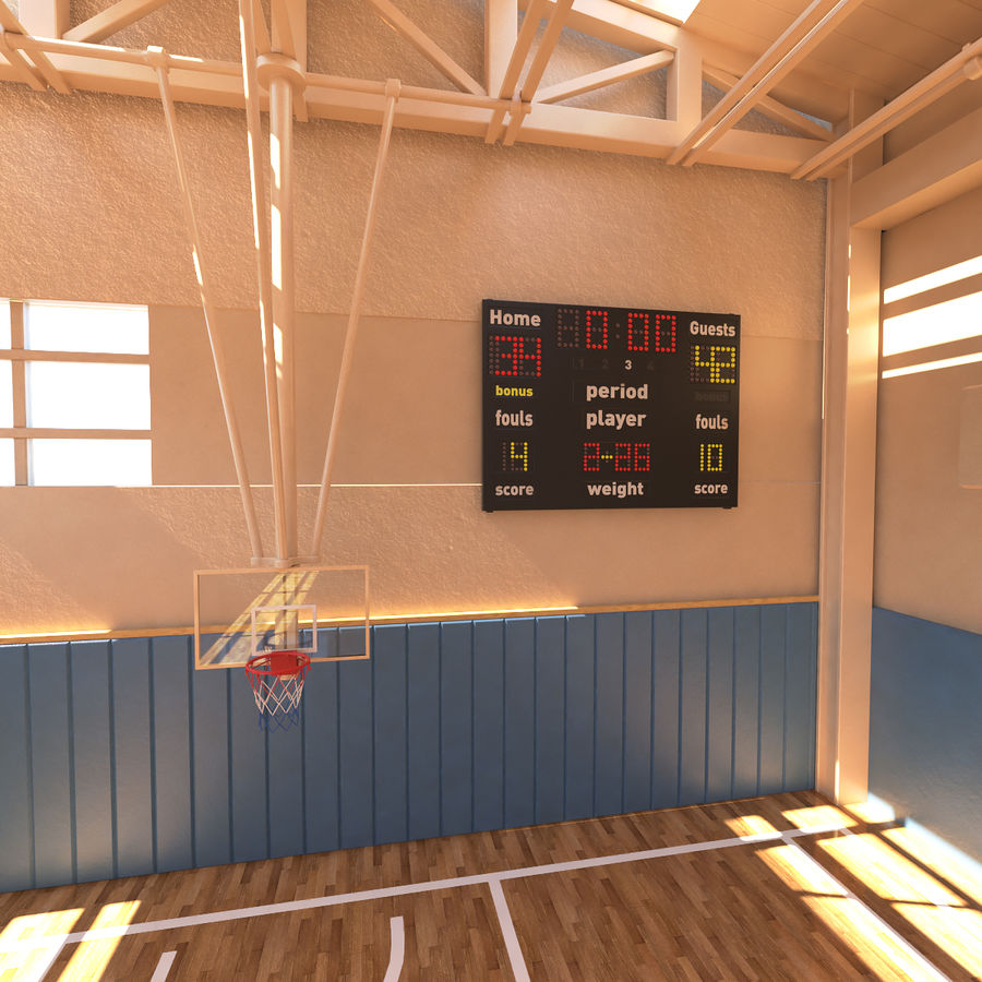 Palestra di basket royalty-free 3d model - Preview no. 7