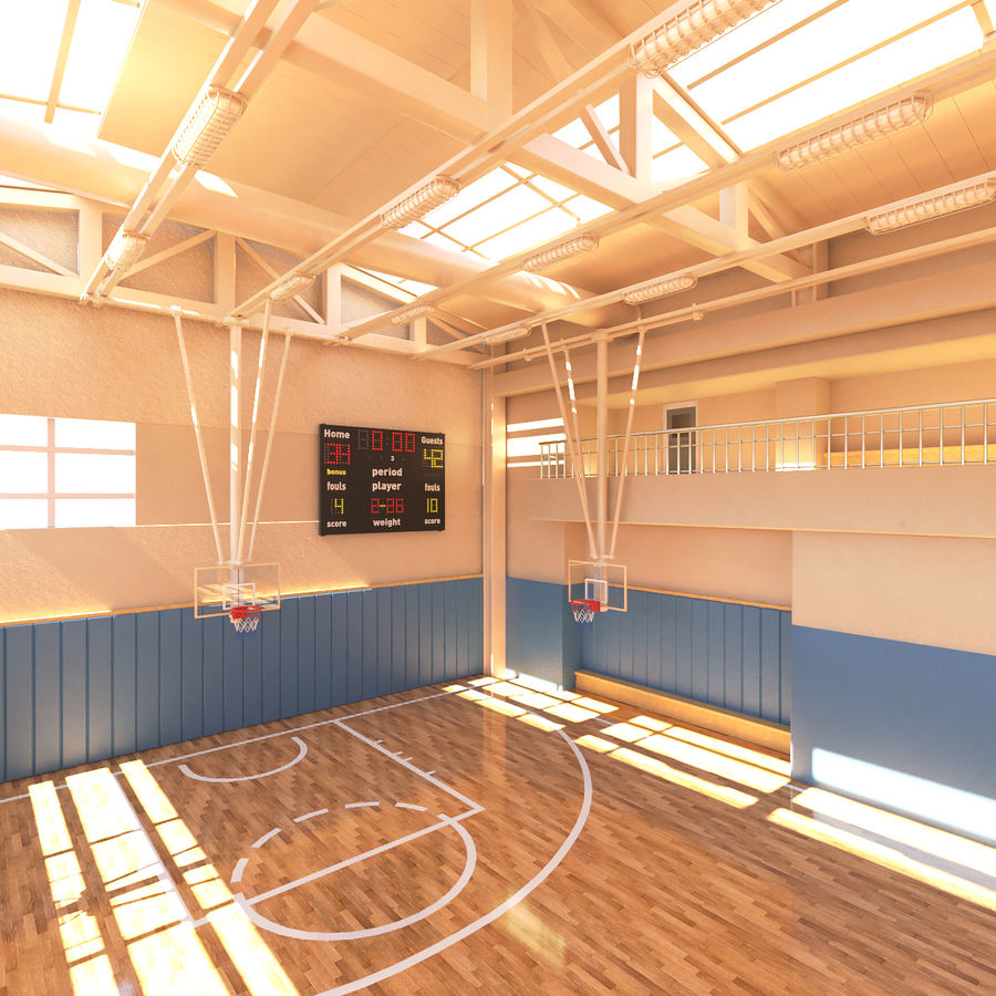 Palestra di basket royalty-free 3d model - Preview no. 4