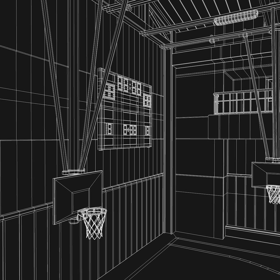 Palestra di basket royalty-free 3d model - Preview no. 10