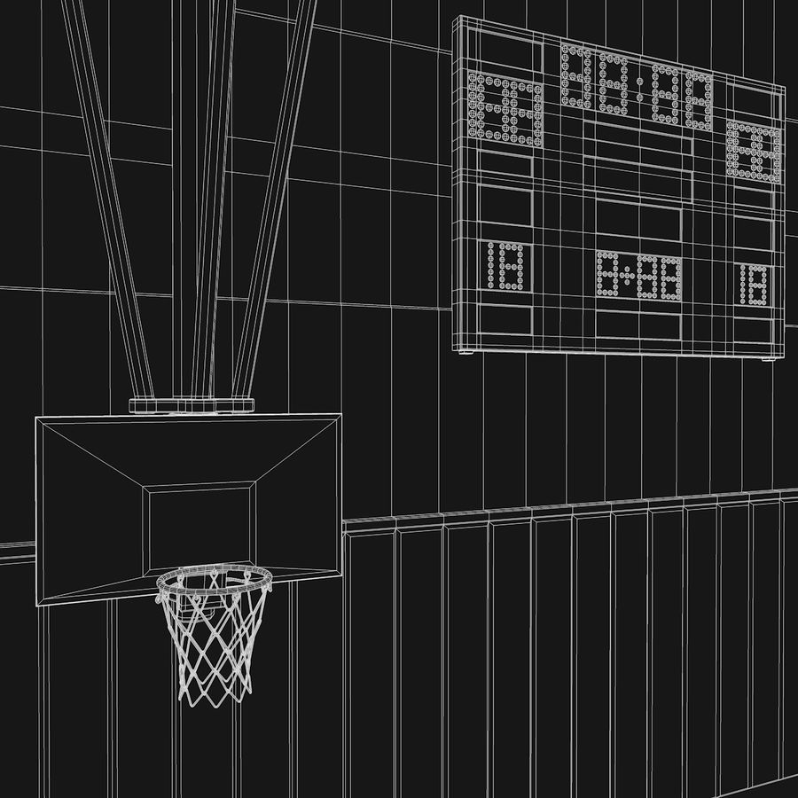 Palestra di basket royalty-free 3d model - Preview no. 11