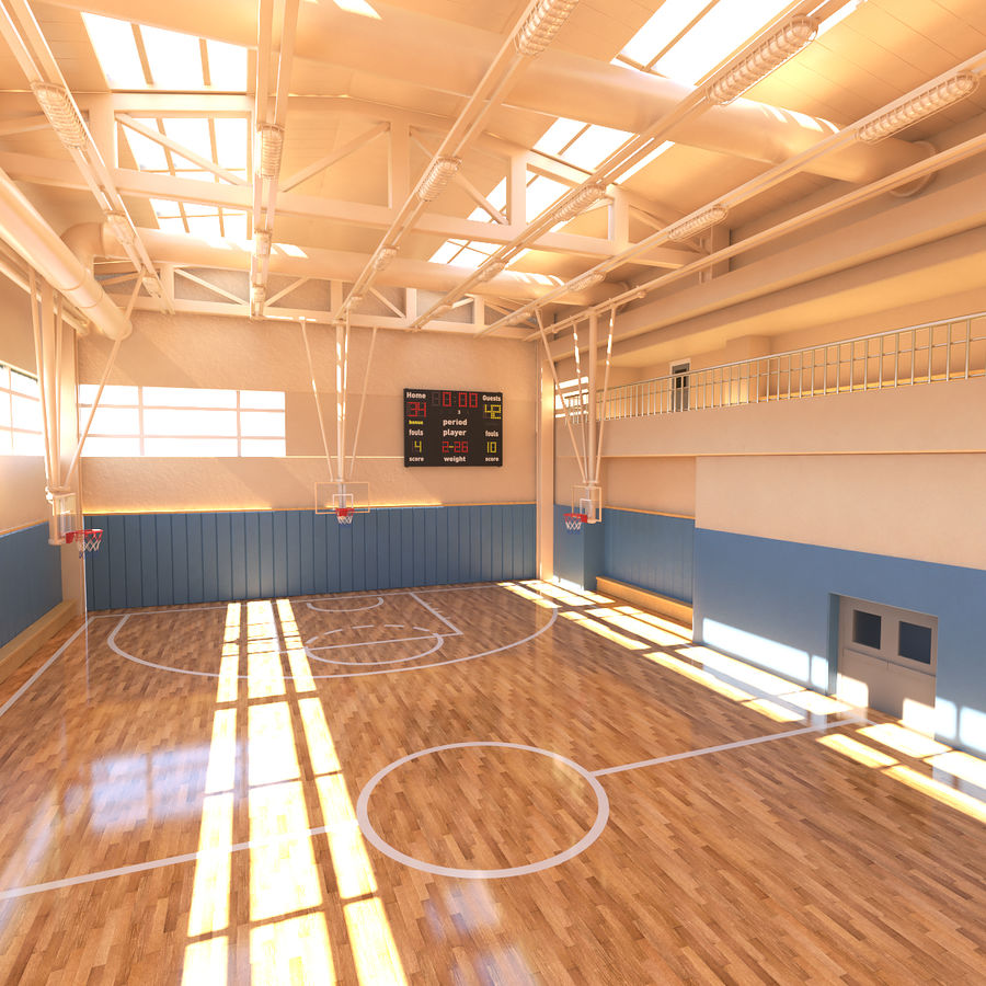 Palestra di basket royalty-free 3d model - Preview no. 3