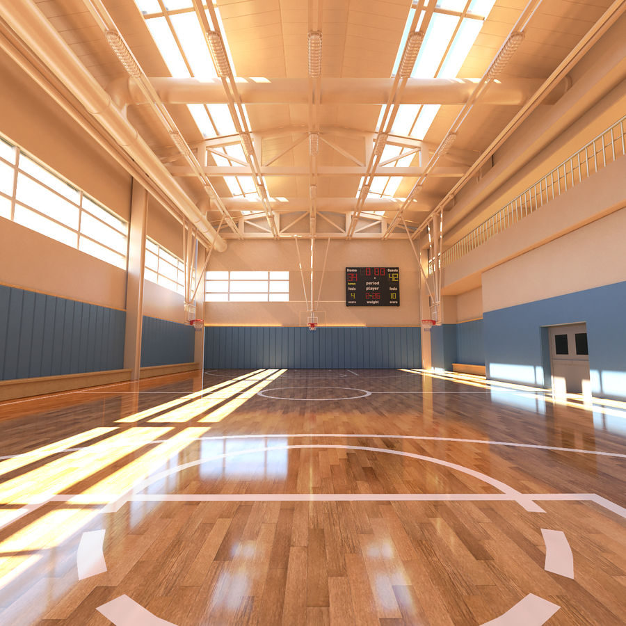 Palestra di basket royalty-free 3d model - Preview no. 1