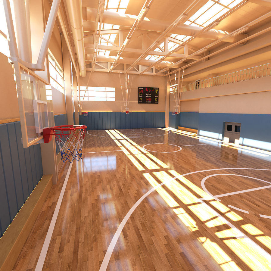 Palestra di basket royalty-free 3d model - Preview no. 2