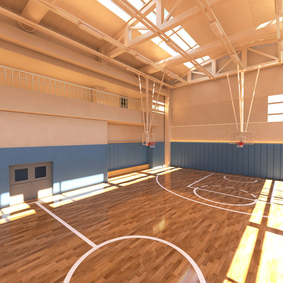 Palestra di basket royalty-free 3d model - Preview no. 8