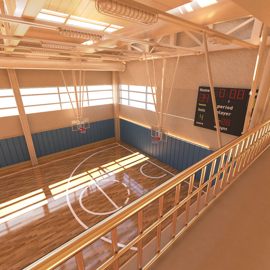 Palestra di basket royalty-free 3d model - Preview no. 6