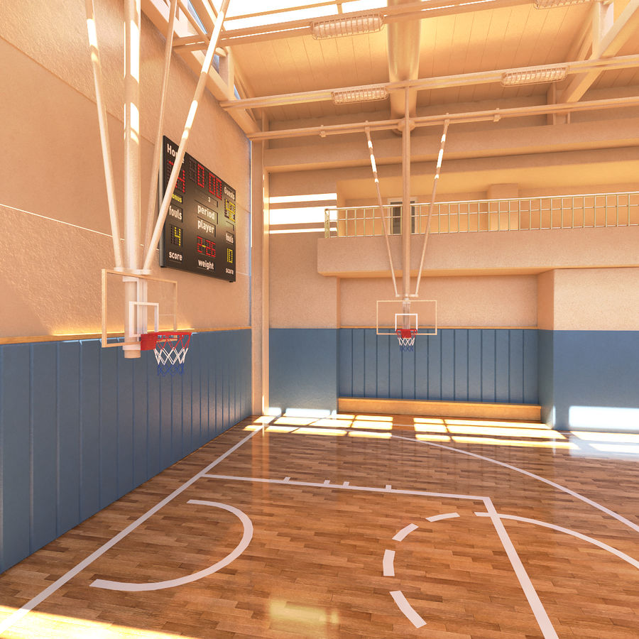 Palestra di basket royalty-free 3d model - Preview no. 5
