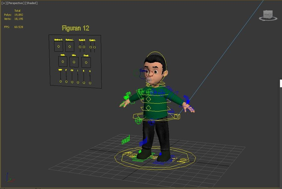personnage royalty-free 3d model - Preview no. 7