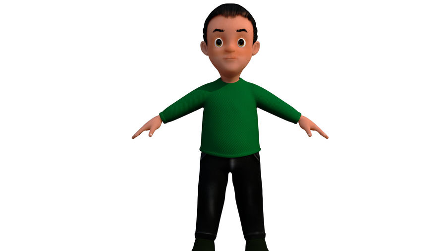 personnage royalty-free 3d model - Preview no. 4