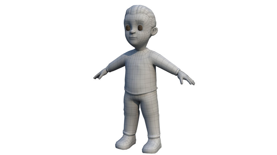 personnage royalty-free 3d model - Preview no. 5