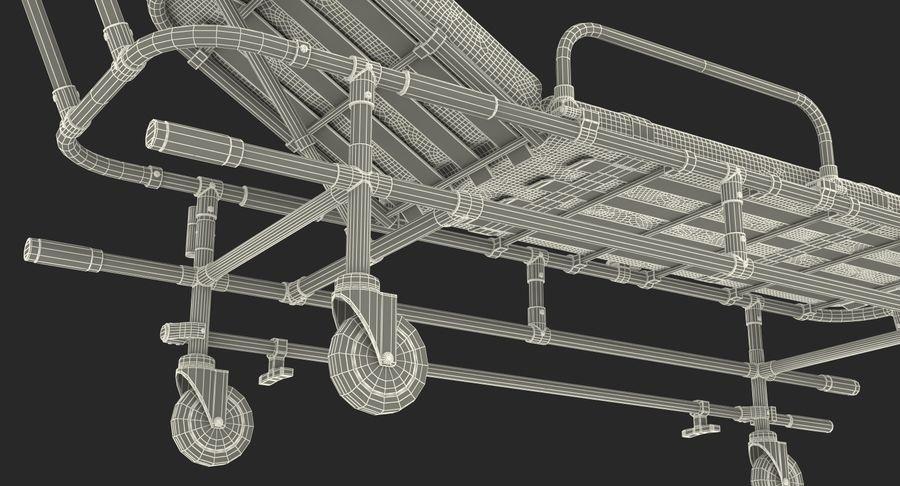 救护车担架车3D模型 royalty-free 3d model - Preview no. 23