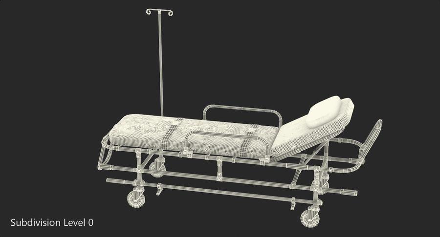 救护车担架车3D模型 royalty-free 3d model - Preview no. 16