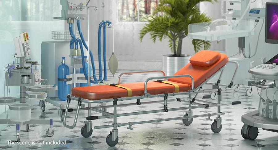 救护车担架车3D模型 royalty-free 3d model - Preview no. 3