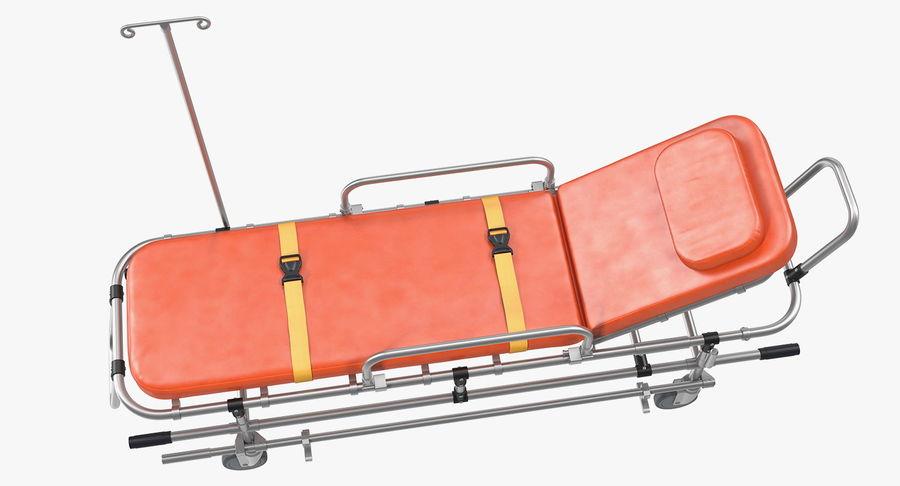 救护车担架车3D模型 royalty-free 3d model - Preview no. 6