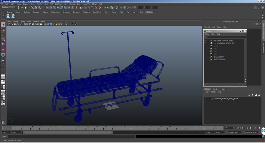 救护车担架车3D模型 royalty-free 3d model - Preview no. 20