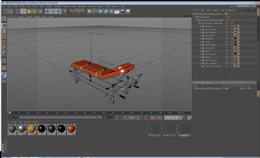 救护车担架车3D模型 royalty-free 3d model - Preview no. 21