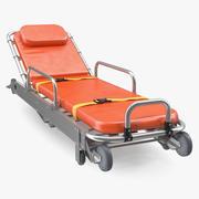 折叠式救护车担架车3D模型 3d model