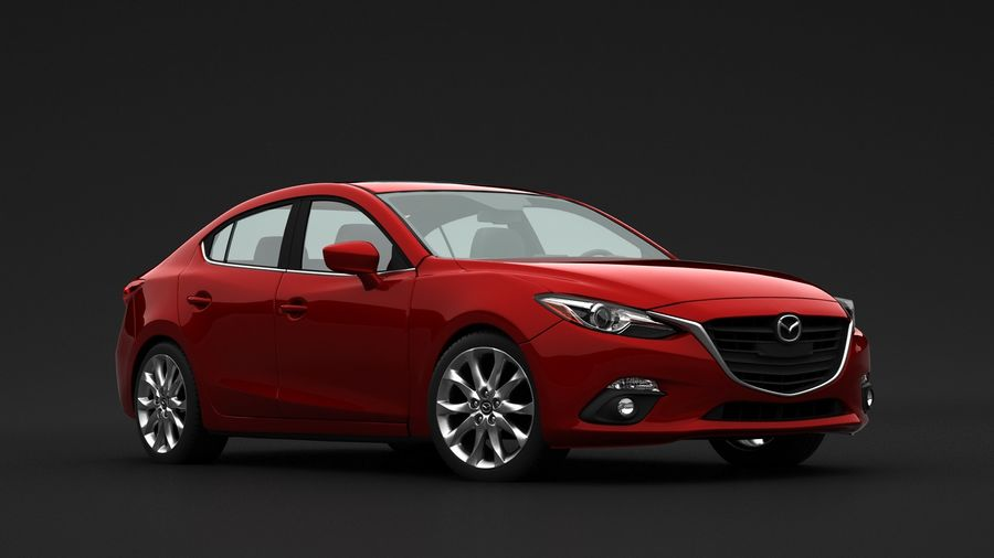Mazda 3 Limousine royalty-free 3d model - Preview no. 7