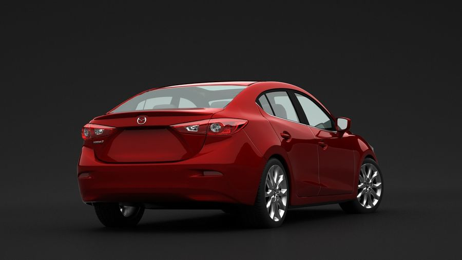 Mazda 3 Limousine royalty-free 3d model - Preview no. 5