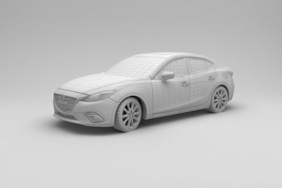 Mazda 3 Limousine royalty-free 3d model - Preview no. 9