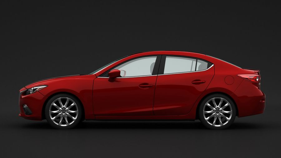 Mazda 3 Limousine royalty-free 3d model - Preview no. 2