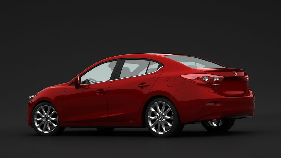 Mazda 3 Limousine royalty-free 3d model - Preview no. 1