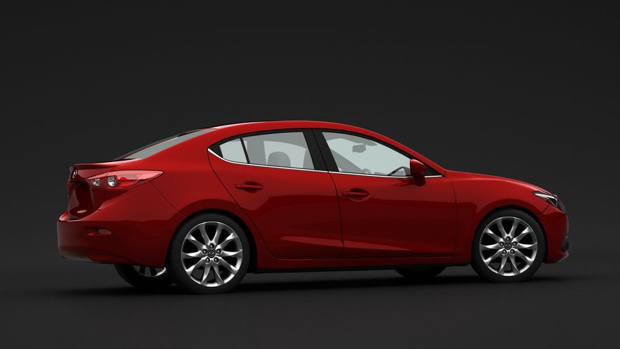 Mazda 3 Limousine royalty-free 3d model - Preview no. 6