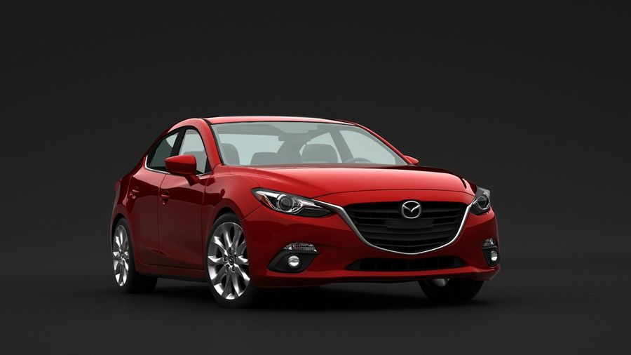 Mazda 3 Limousine royalty-free 3d model - Preview no. 8