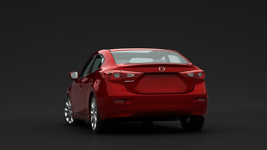 Mazda 3 Limousine royalty-free 3d model - Preview no. 4