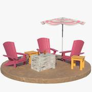 Beach Loungers 3d model