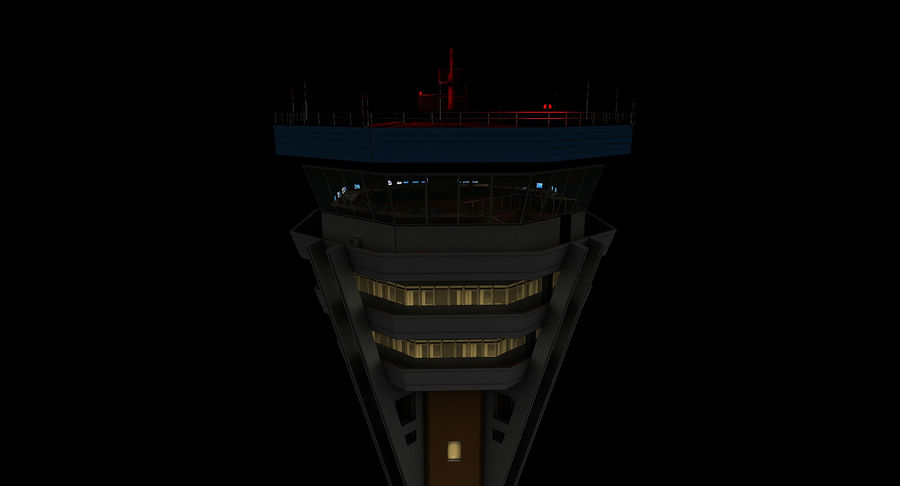 Air Traffic Control Tower royalty-free 3d model - Preview no. 10