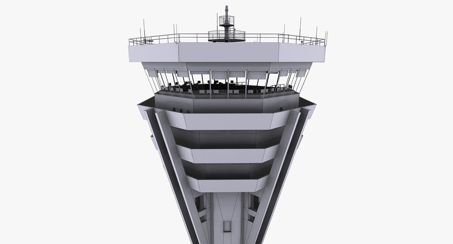 Air Traffic Control Tower royalty-free 3d model - Preview no. 15