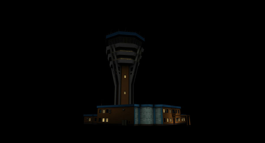 Air Traffic Control Tower royalty-free 3d model - Preview no. 8