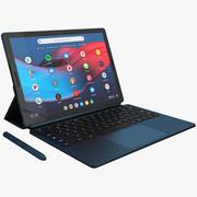 Slate de pixel do Google com tampa do teclado (equipado) 3d model