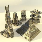 Futuristic Buildings XX1(3) 3d model