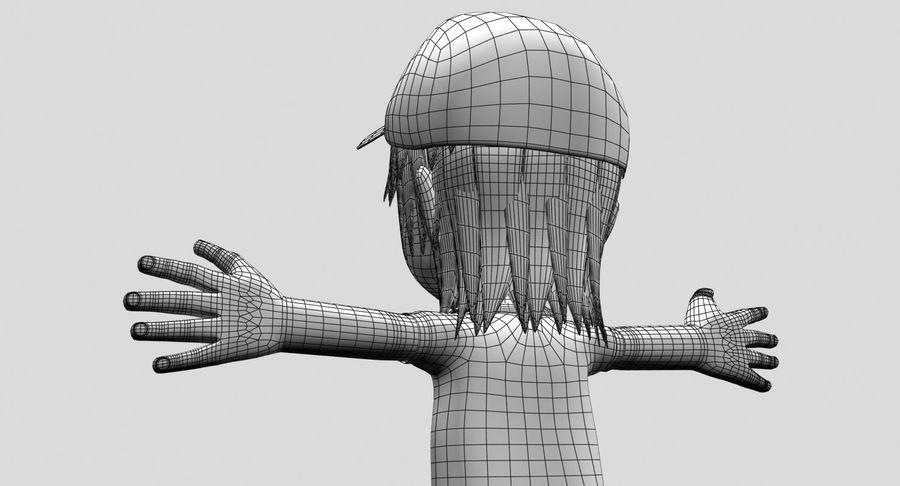 Garçon de dessin animé royalty-free 3d model - Preview no. 18