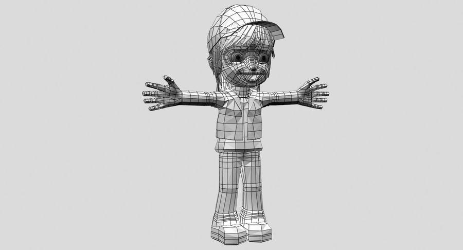 Garçon de dessin animé royalty-free 3d model - Preview no. 15