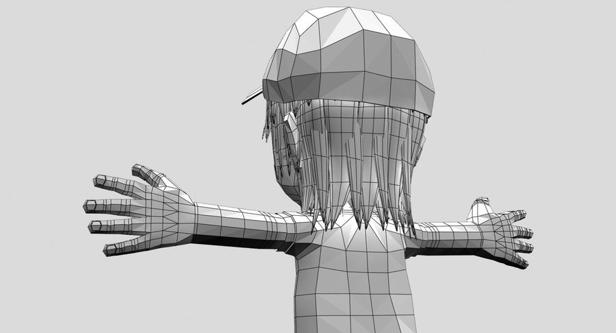 Garçon de dessin animé royalty-free 3d model - Preview no. 19