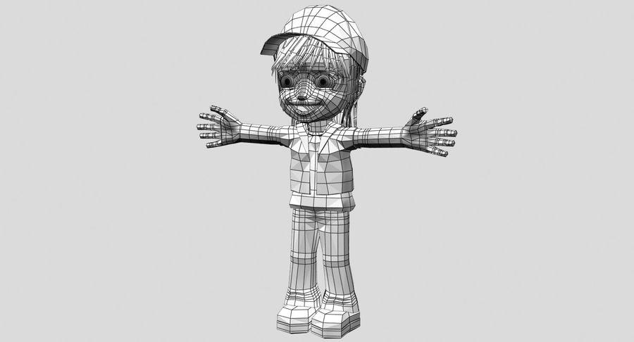 Garçon de dessin animé royalty-free 3d model - Preview no. 20