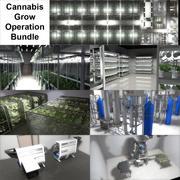 Cannabis Producties Faciliteit 3d model