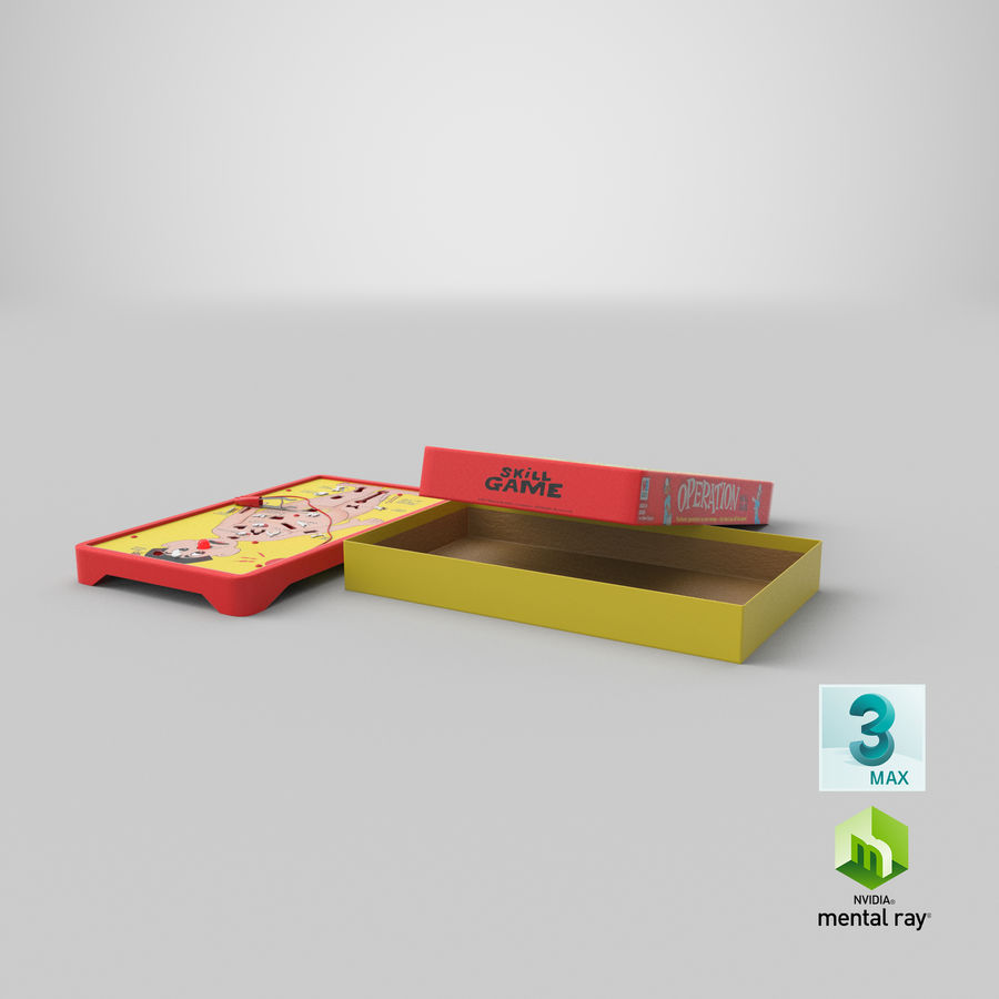 Operation Game Toy royalty-free 3d model - Preview no. 28