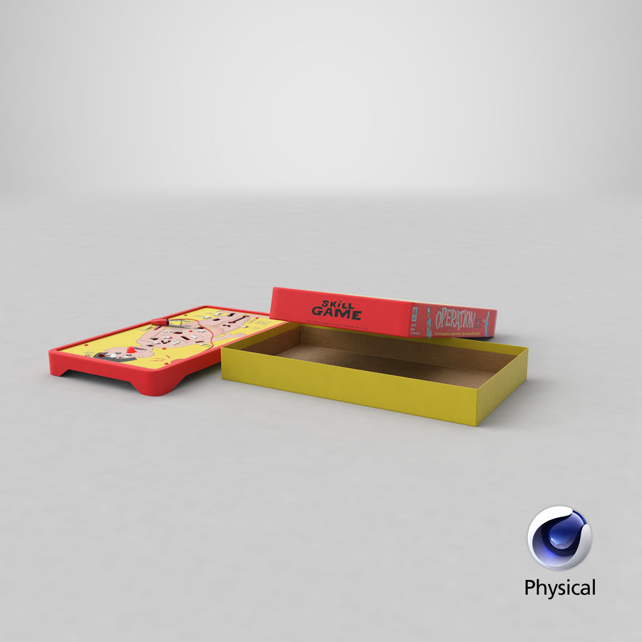 Operation Game Toy royalty-free 3d model - Preview no. 25
