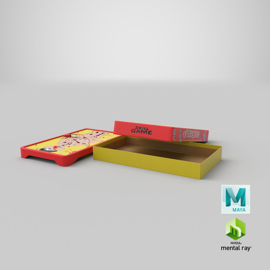 Operation Game Toy royalty-free 3d model - Preview no. 31