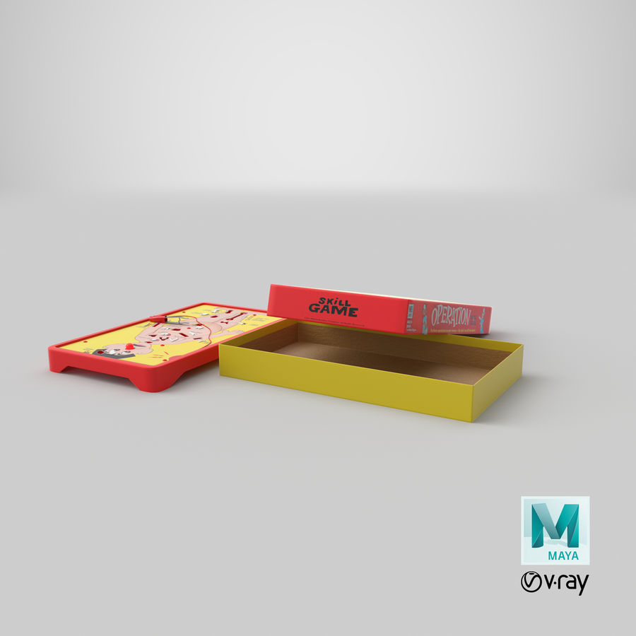 Operation Game Toy royalty-free 3d model - Preview no. 32